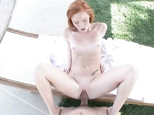 Perfect Teen Redhead Fucks A Big Cock Outdoors