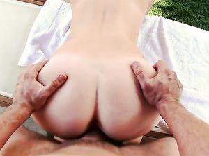 Perfect Teen Redhead Fucks A Big Cock Outdoors