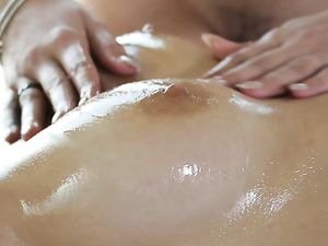 Massage Foreplay Before A Hot Teen Threesome