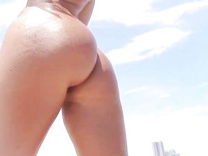 Fine Booty Teen From The Beach Wants To Fuck