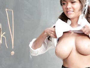 Teacher Seduced By The Big Titty Schoolgirl Slut