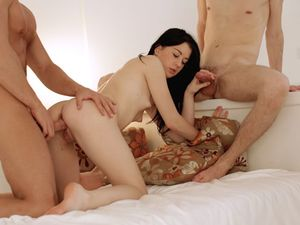 Sweet 18 Year Old Gets Slutty For A Hardcore Threesome