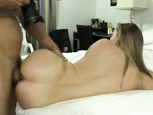 Foxy Young Blonde With A Great Ass Fucks For His Cum
