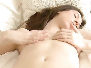 Sexy Tit Fondling And Cunt Rubbing Solo Girl In Bed
