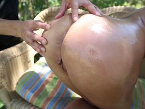 Sporty Oiled Up Babe Ashley Adams Fucked Outdoors