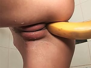 Banana Fucking And Fingering His Sexy Girlfriend