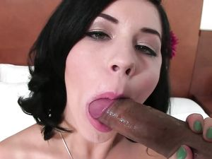 Sexy Brunette With Short Hair POV Sucking And Fucking