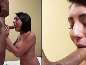Nice Facial For A Short Haired Brunette Princess