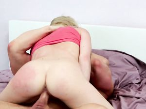 Blonde Cutie Gets A Cum Shot After Hot Sex