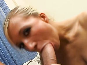 Blonde Girlfriend Pleasing A Long Manhood