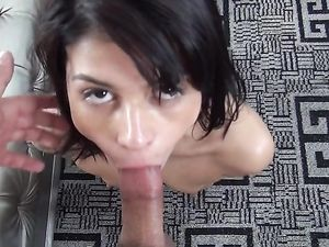 Dong Sucking And Riding Before Cum In Mouth
