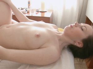 Hairy Pussy Of A Brunette Babe Getting Fucked